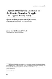 The Targeted Killing policy