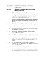 Chapter 5 answers to texbook questions - Business Agreements