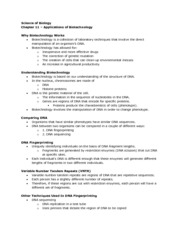 Biology - Chapter 11 Notes