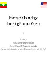 U Thein Oo ICT Propel Growth.ppt