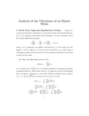 Analysis of the Vibrations of an Elastic Beam