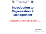 Plenary  1  Introduction to course  28-9-15