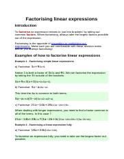 Factorising linear expressions.docx