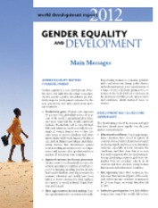 Gender Equality and Development.World Development Report