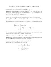 Gradient Fields problems study guide