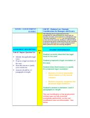 Week 1 Assignment Grading Rubric (GBV).doc