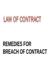 6. Remedies for breach of contract - 503