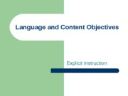 01 Language and Content Objectives Described
