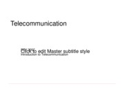 Telecommunication Overview ppt