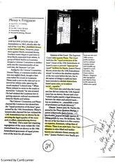 Plessy V. Fergeson Case Study with Student generated annotations