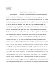 american history x reaction paper erica stokes socl american  american history x reaction paper erica stokes socl 319 american history x reaction paper american history x is about a boy who begins to follow the