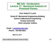 PremixedFlamesIILect17ME525SP2011