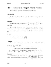 Calculus Notes 7E 13.2