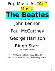 Music 120A Beatles Spring 2017