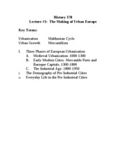 Lect _1 -- Making of Urban Europe