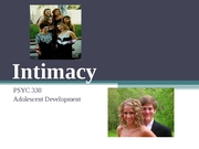 Intimacy Powerpoint