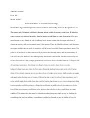 Antwan Lawrence Econ Political Promises.docx