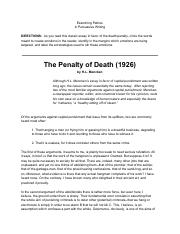 Capital punishment in singapore essay