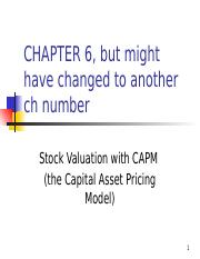 ppt h for Exam 4 TVM for Stock Valuation using CAPM.pptx
