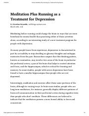 Meditation Plus Running as a Treatment for Depression.pdf