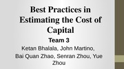 FIN 520 Cost of Capital