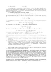 Collection of Homework Assignment Questions and Solution to Homework 2
