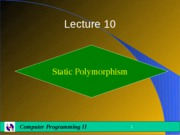 Lecture10-Polymorphism_I