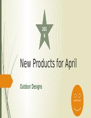 M-New Products for April.pptx