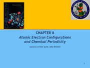 Chapter 8 Electron Configuration and Periodicity 2