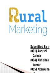 Marketing ppt - Rural Marketing.pptx