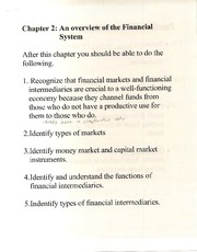 Ch. 2 Notes (BUS G-345; Money, Banking; and Capital Markets; Self)