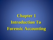 Forensic Accounting Chapter 1