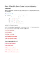 ENGL 1010_M1_Parts of Speech in Simple Present Sentences (50 points).doc