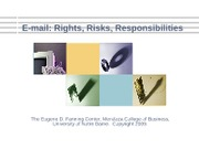 07 E-mail Rights Risks Responsibilities