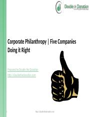 fivecompaniesdoingcorporatephilanthropyright-140212164722-phpapp02.pptx