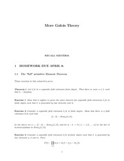 Galois Theorem