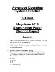 ICT3631 May-June 2018 Examination Second Paper (Self-Made Memorandum).pdf