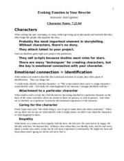 4.Character Notes