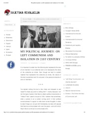 My political journey_ on left communism and isolation in 21st century