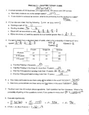Chapter 7- Probability Study Guide with Answers