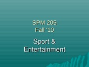 Class #3-Sport & Entertainment