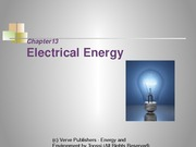 Chapter 3- Electrical Energy