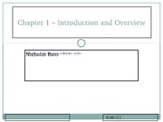 Chapter 1 � Introduction and Overview