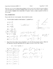 exam 1 fall 2008 solutions