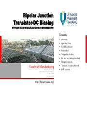 Lecture-05_Bipolar Junction Transistor_DC Biasing