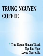 POSITIONGING TRUNG NGUYEN COFFEE
