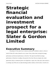 Strategic financial evaluation and investment prospect for a legal enterprise