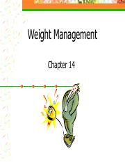 ch 14 Weight Management