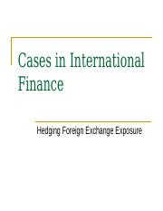 Cases in International Finance-2