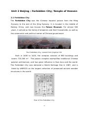 2 Beijing:Forbidden City;Temple of Heaven;the Summer Palace p10-15